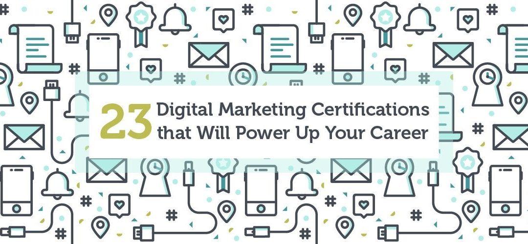 List of Digital Marketing Certifications you complete online